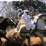Ancient morocco-horse-battle
