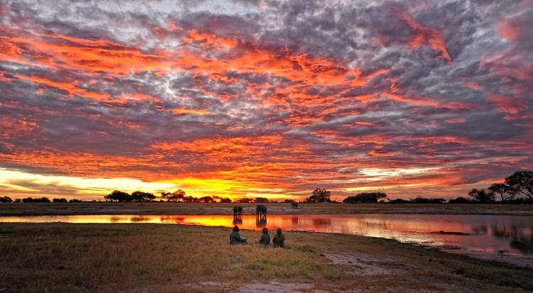 sunset in Hwange national park